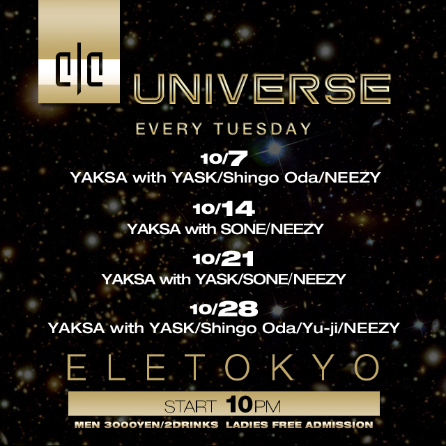 ELE TOKYO TUESDAY NIGHT PROGRAM UNIVERSE